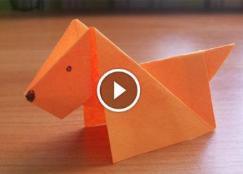 Собака з паперу: техніка орігамі