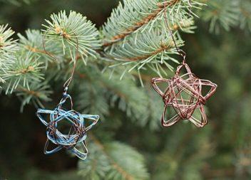 Прикраси на ялинку власноруч: зірка з дроту