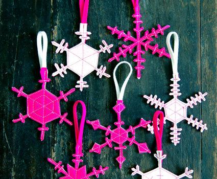 Сніжинка з фетру: новорічний декор