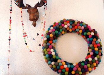Різдвяний вінок з фетру: готуємось до свят