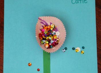 Рукоділля для діток: аплікація квіточка