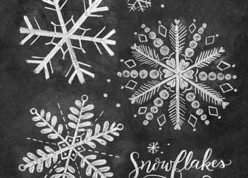 Малюємо сніжинку крейдою наче професіонал: майстер-клас
