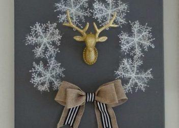 Новорічний декор: вінок зі сніжинок