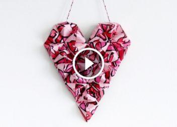 3d серце із паперу до Дня святого Валентина. Відео