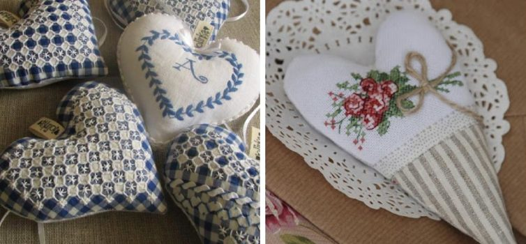 Текстильні валентинки своїми руками. 39 ідей