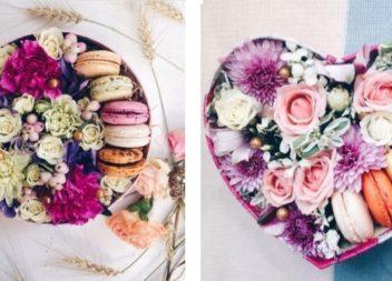 Квіти у коробці із солодощами: 20 неперевершених ідей