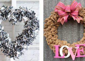 Вінок на двері до Дня святого Валентина: 30 ідей