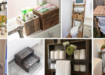Меблі для ванної кімнати з палет, дошок та ящиків: цікаві рішення майже за безцінь!