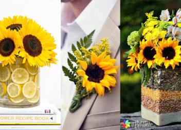 Декор із соняшників - 26 ідей свята в українськиму стилі