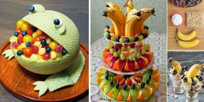 Красиві ідеї подачі фруктових та овочевих нарізок на святковий стіл (27 фото)