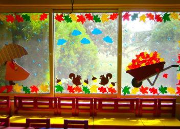 10 цікавих ідей оформлення вікон по-осінньому