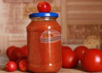 Томатно-сливовий соус на зиму (рецепт із фото)