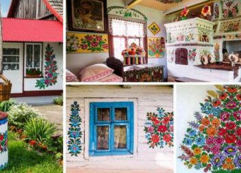 Як жителі одного польського села перетворили свої домівки у справжні витвори мистецтва (фото)