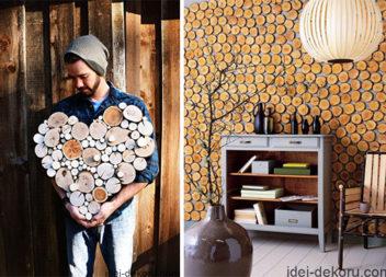 30 свіжих ідей декору з дерев'яних спилів