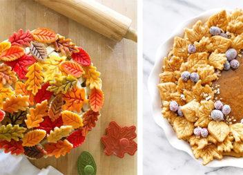 30 ідей осіннього декорування пирогів