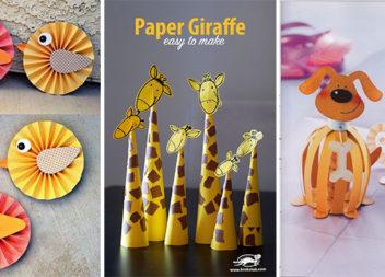 Веселі іграшки з кольорового паперу: ідеї та майстер-класи