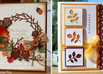 Саморобні осінні листівки (більше 60 ідей)