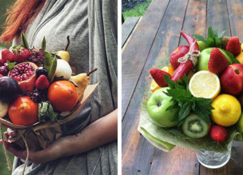 Креативні букети з овочів та фруктів
