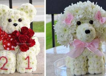 Іграшки з квітів (24 фото)