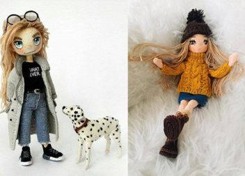 Чарівні в'язані ляльки амігурумі