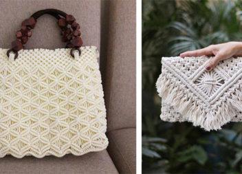 20 неймовірних жіночих сумок в техніці макраме