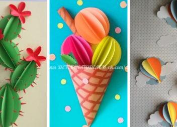 Об'ємні аплікації 3D: 20+ ідей для дитячої творчості