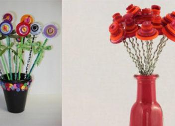 Яскраві квіти із ґудзиків своїми руками. Майстер-клас із фото