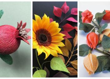 Квіти з гофрованого паперу: добірка ідей та майстер-класів