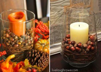 Осінні композиції зі свічками: 35 чудових прикладів
