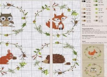 Добірка схем вишивки з осінніми мотивами (30+ cхем)