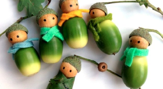 9 ідей для виробів із жолудів