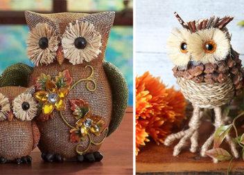 Осінні сови для декору: 29 оригінальних ідей