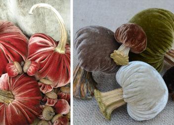 Гарбузи та грибочки з оксамиту: майстер-класи для осіннього декору