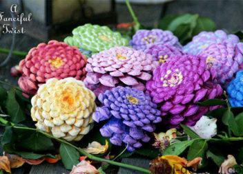Квіти з шишок (майстер-клас)