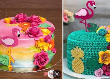 Декоруємо торти в стилі фламінго