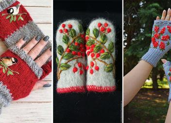 Рукавички та мітенки: 42 красиві ідеї як вберегти руки від холоду