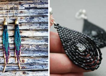Сережки з бісеру: ідеї та майстер-класи