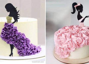Декор торта для вишуканої леді