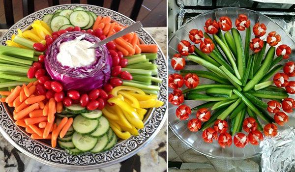 Овочеві салати та нарізки: 36 смачних ідей до святкового столу