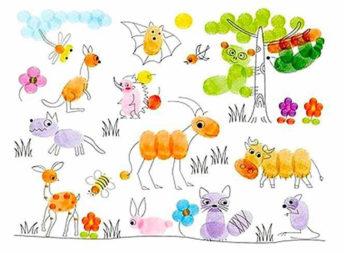 Малювання пальчиками: ідеї для наймолодших