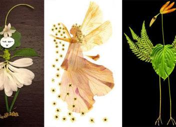 Осіння творчість: каштани, жолуді, шишки, квіти, листя (32 фото ідеї)