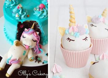 Декоруємо торти в стилі єдинорогів: 34 приклади