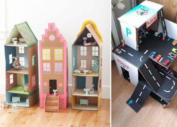 38 чудових ідей картонних іграшок, які просто зробити самотужки