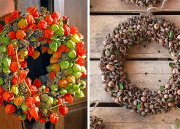 Осінні віночки: 28 ідей виготовлення природних матеріалів