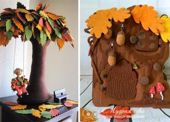 Дерева з фетру: 23 ідеї + викрійки