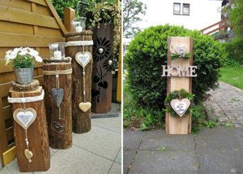 Оригінальний декор для двору з колод та пеньків: 26 ідей