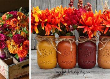 Ідеї для створення букетів в осінніх кольорах