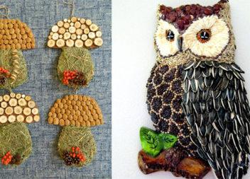 Дитяча творчість з натуральних матеріалів: 17 осінніх ідей