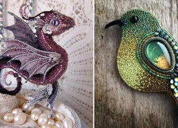 Чарівні тварини і птахи з бісеру: 19 творчих ідей