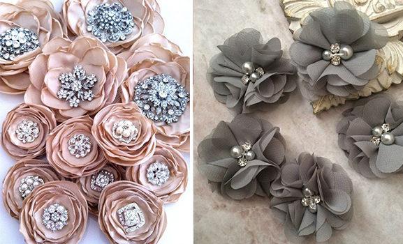 Прості квіти з тканини: ідеї та майстер-класи